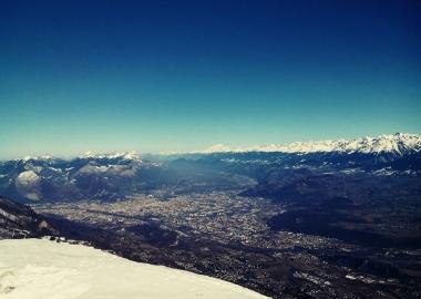 Grenoble et le Mont-Blanc