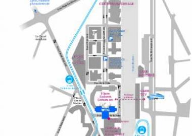 Plan d'accès au Centre de Congrès du WTC Grenoble