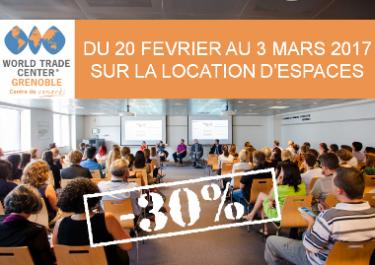 - 30% sur la location d'espaces
